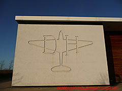 de Havilland logo on the wall of the DH Sports and Social Club