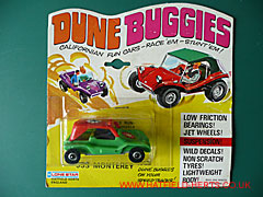 Lone Star Dune Buggy still in its bubblepack and yellow backing board