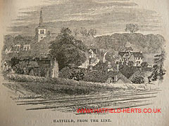 Engraving of Hatfield as seen from the railway
